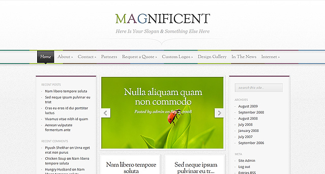 Elegantthemes wordpress主题-Magnificent(已添加汉化包)
