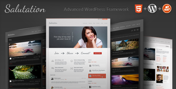 WordPress+BuddyPress主題 – Salutation