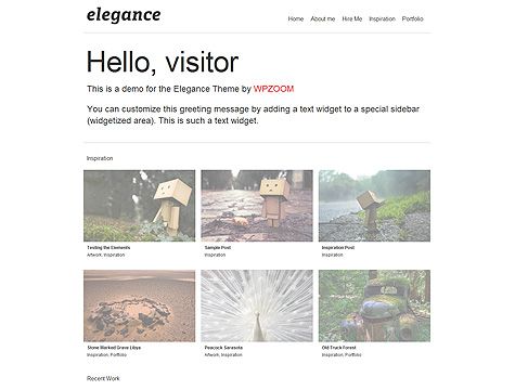 WPZOOM wordpress图片主题 – Elegance