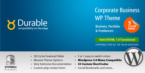 ThemeForest wordpress企业主题 – Durable
