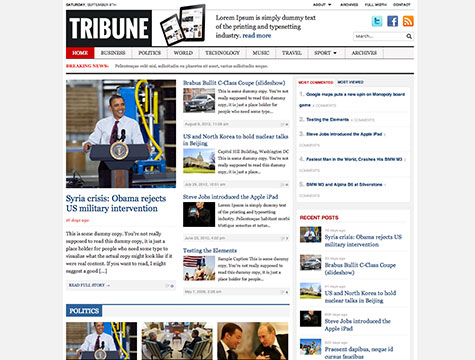 WordPress cms主题 – Tribune