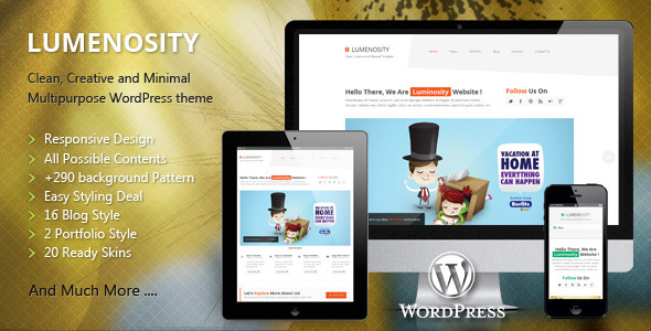 Lumenosity Themeforest WordPress企業主題