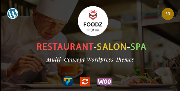 Foodz 餐厅SPA沙龙 WordPress主题
